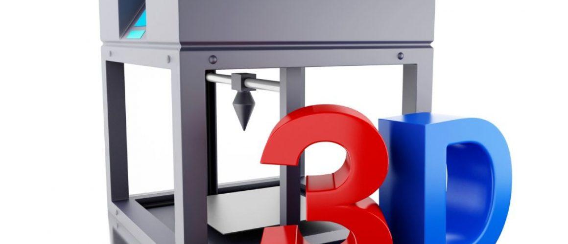 3D Three dimensional printer.