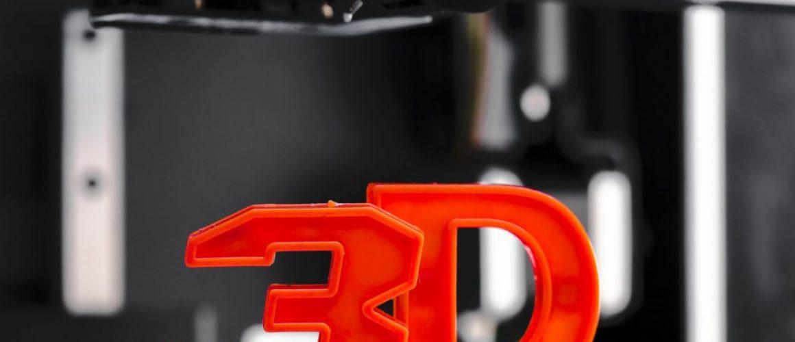 White 3D printing piece